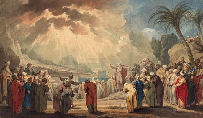 Moses Electing the Seventy Elders- Jacob de Wit